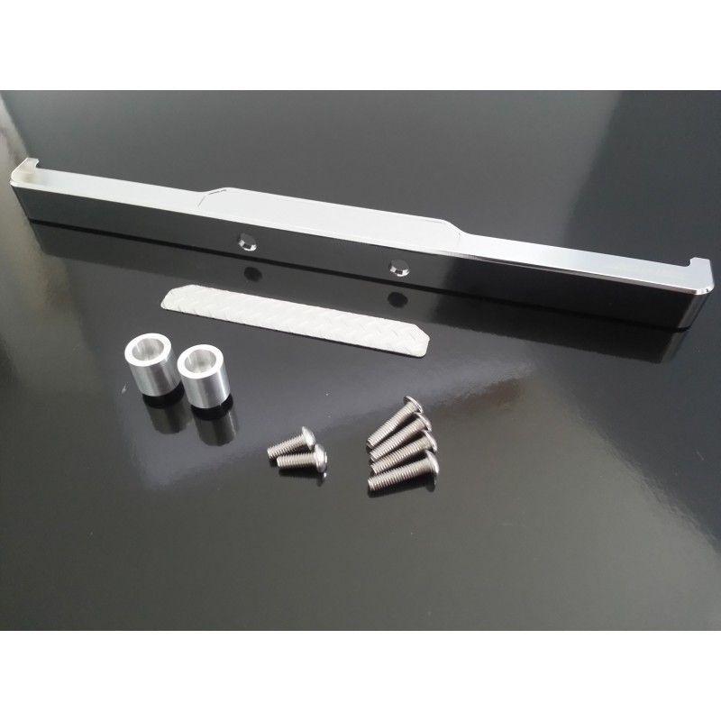 SAMIX Tamyia 1850L aluminum rear bumper set (chrome ve