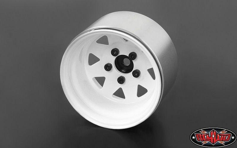 5 Lug Deep Dish Wagon 1.9 Steel Stamped BeadlockWheels White