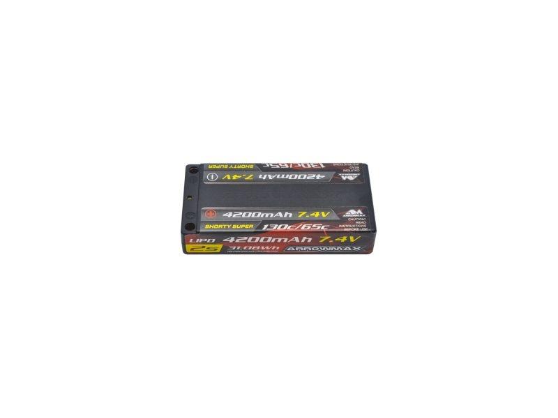 AM Lipo 4200mAh 2S  Shorty Super LCG - 7.4V 65C Continuous 1