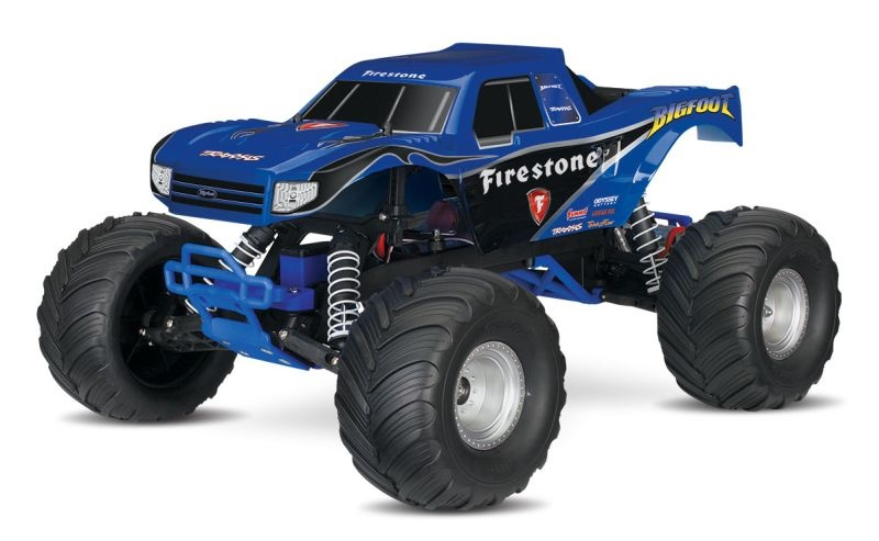 SLVR TRAXXAS BIGFOOT Firestone-Edition RTR +12V-Lader+Akku