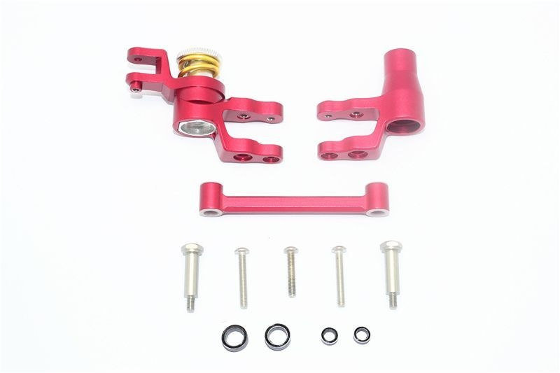 ALUMINUM STEERING ASSEMBLY -12PC SET red