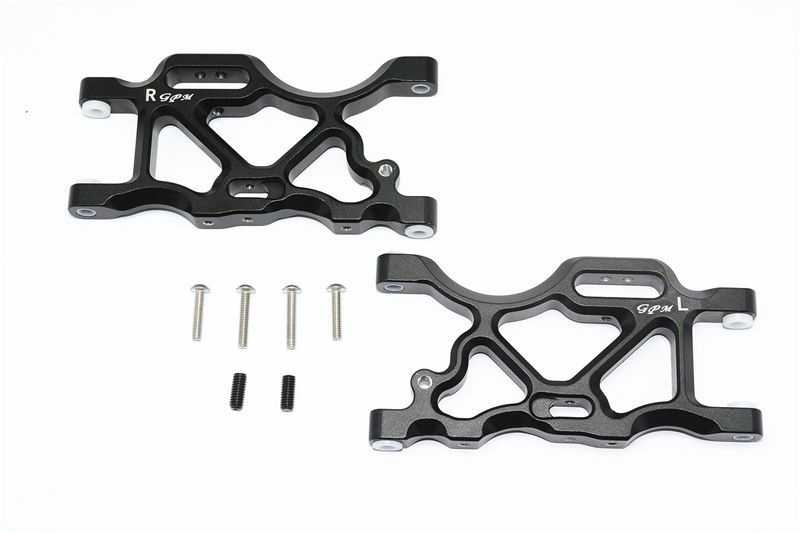 ALUMINUM REAR LOWER ARMS -8PC SET black