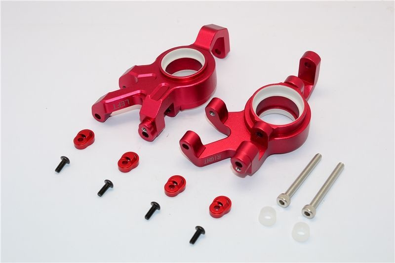 ALUMINUM FRONT KNUCKLE ARMS WITH COLLARS 14PC SET red