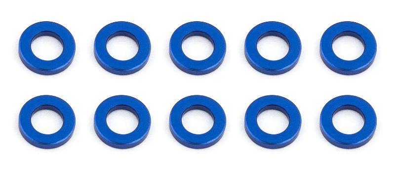 Kugelkopf Scheiben 5.5x1,0mm, Alu blau (10)
