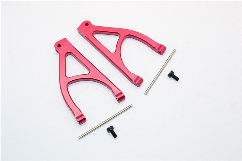ALUMINIUM REAR UPPER ARM - 1PR SET red