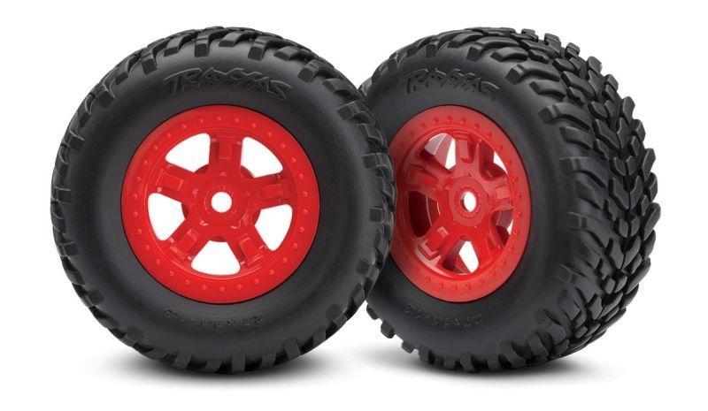 Reifen auf Felge (SCT rot+G3615 1 Paar re/li)