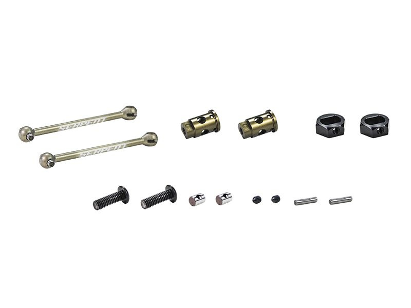 Wheelaxle set CVD alu 0mm V2 (2) (SER804446)