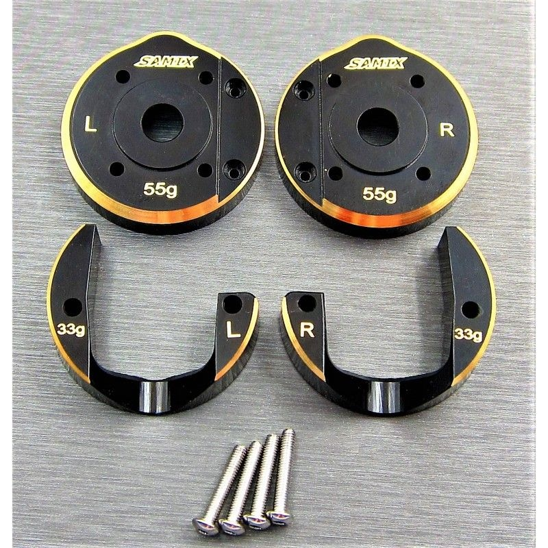SAMIX SCX10-3 brass portal cover full set  88g