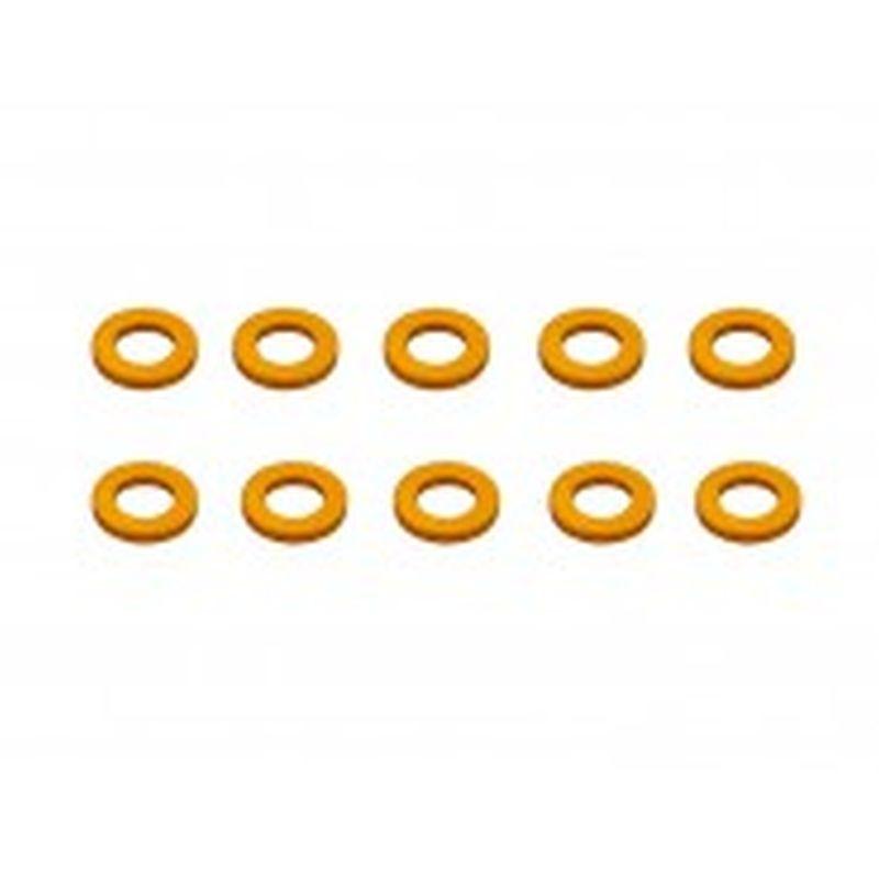 Alu Shims 3 x 5 x 1 Orange (10)