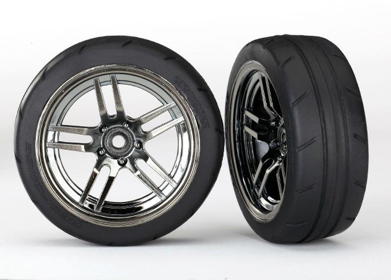 Reifen auf Felge Split-Spoke Chrome-schwarz 1.9 Response vo