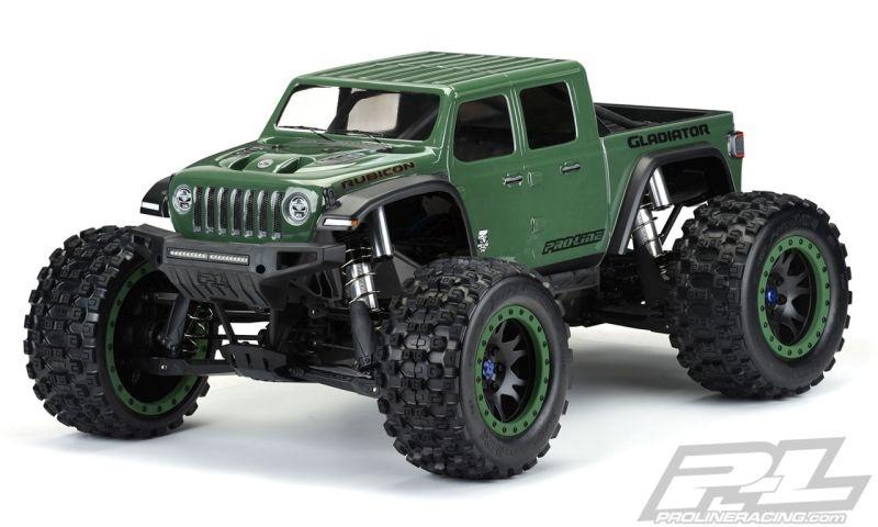 Pro-Line Jeep Gladiator Rubicon Karo klar Pre-Cut