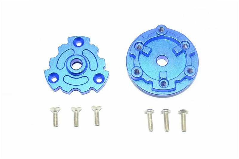 ALUMINUM TRASMISSION CUSH DRIVE HOUSING -8PC SET blue