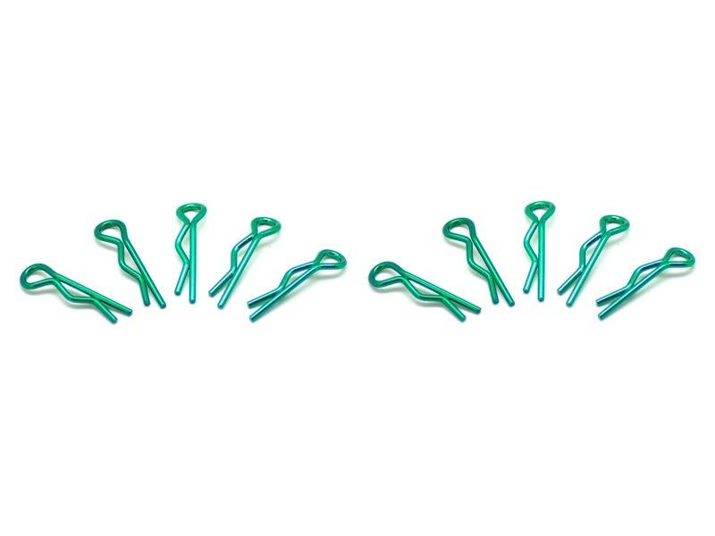 small body clip 1/10 - metallic green  (10)
