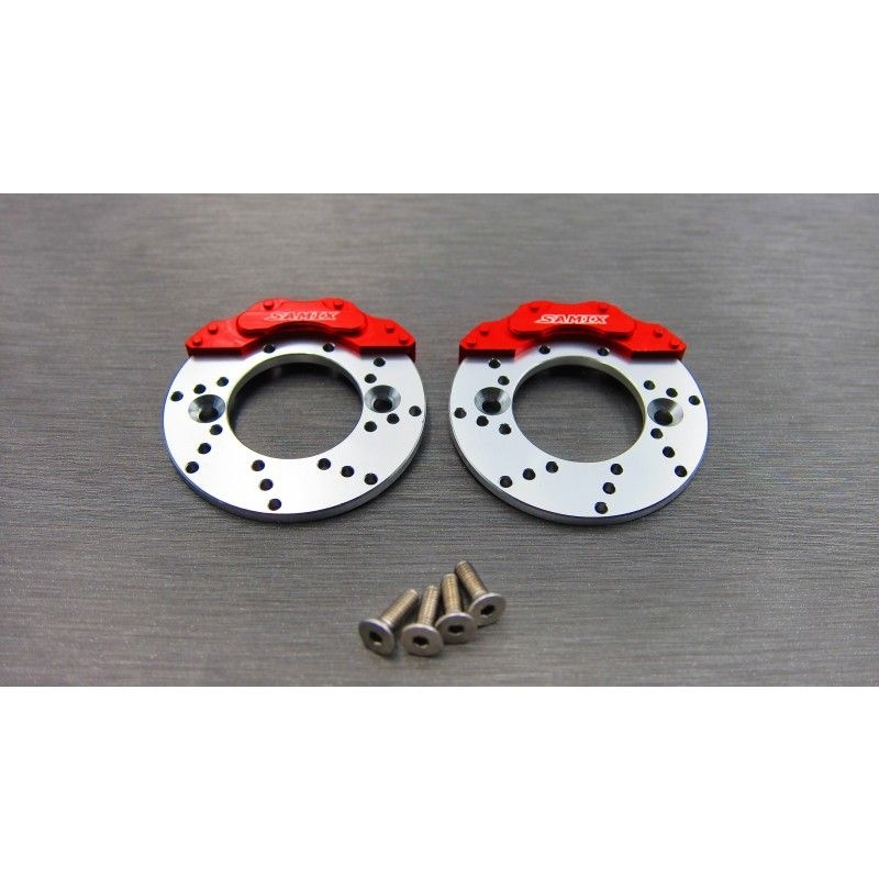 SAMIX SCX10-2 scale brake rotor and caplier set