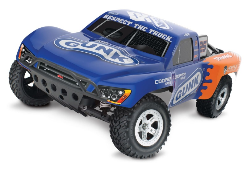TRAXXAS Slash Gunk-Edition RTR +12V-Lader+Akku