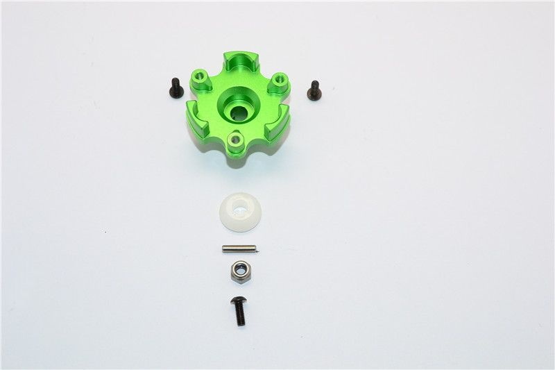 ALUMINIUM SPUR GEAR ADAPTER - 1PC SET green