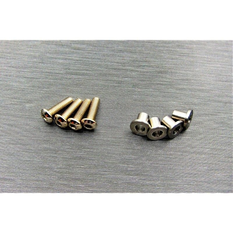 SAMIX SCX10-2 stainless steel knuckle busings set