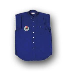 SLVR NOVAROSSI blau Shirt, kurz Ärmel, Einfärbig mit Stick