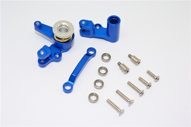 ALU STEERING ASSEMBLY w. BEARINGS&STAINLESS STEEL SCREWS1SET