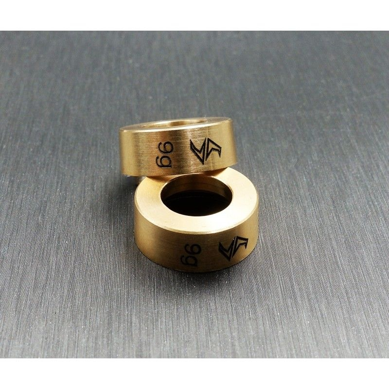 SAMIX SCX24 brass wheel weights (9g)