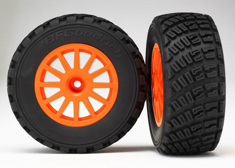 Reifen auf Felge orange