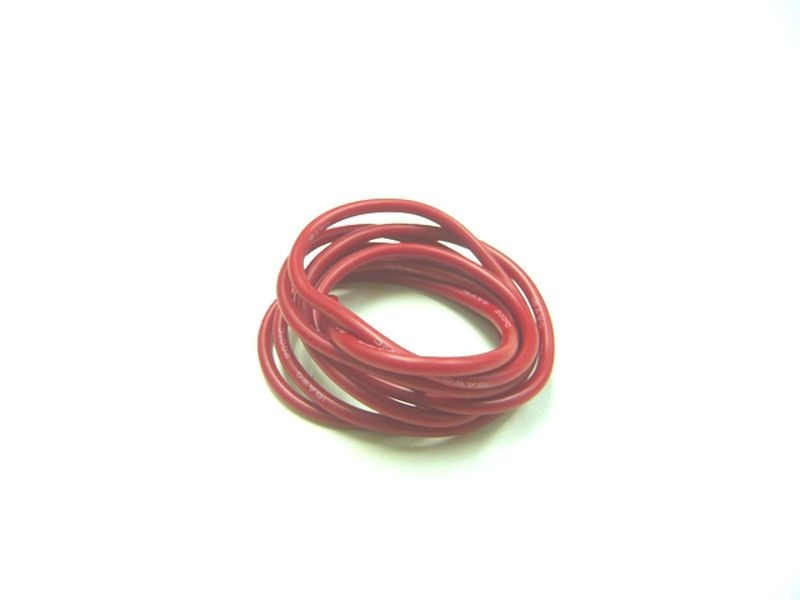 Kabel 100cm soft-silicone rot 16