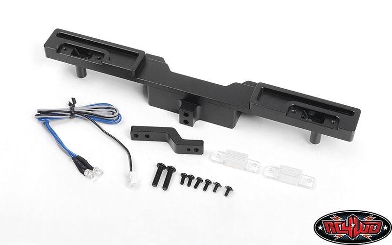 Oxer Steel Rear Bumper w/ Towing Hook, Brake Lenses + LED Li
