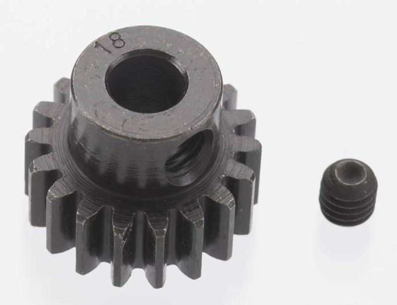Extra Hart 18 tooth Blackened Stahl 32p Ritzel 5mm