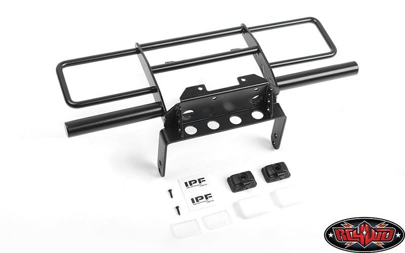 Oxer Steel Front Winch Bumper w/ IPF Lights