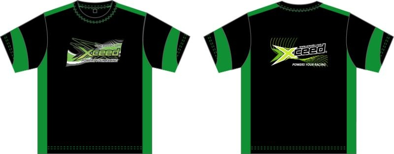 T-shirt (dry-fit) schwarz-grün Xceed (M)