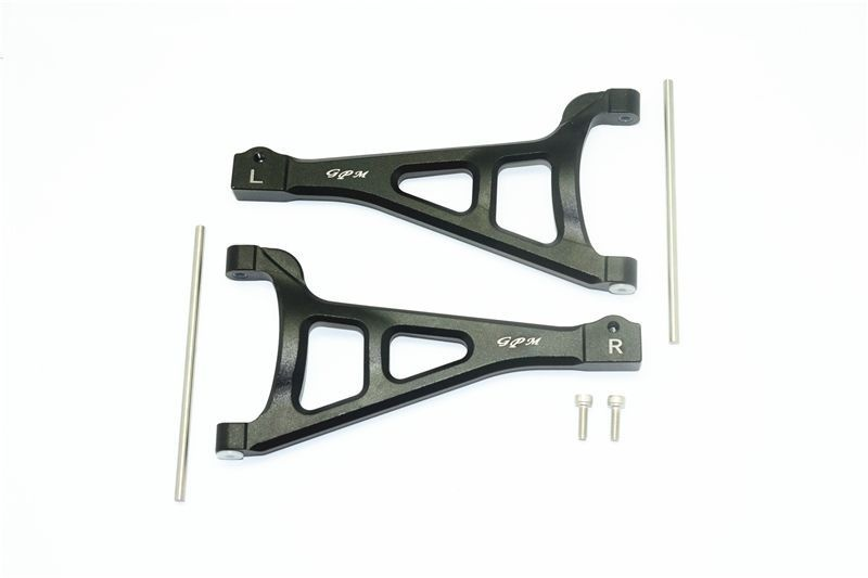 ALUMINUM FRONT UPPER SUSPENSION ARM -6PC SET black