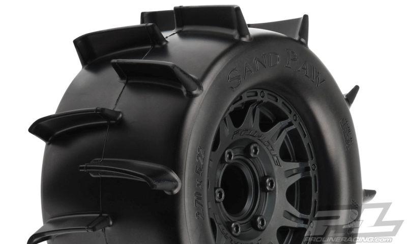 ProLine Sand Paw 2.8 auf Raid 6x39 Felge schwarz Wechsel-Ad.