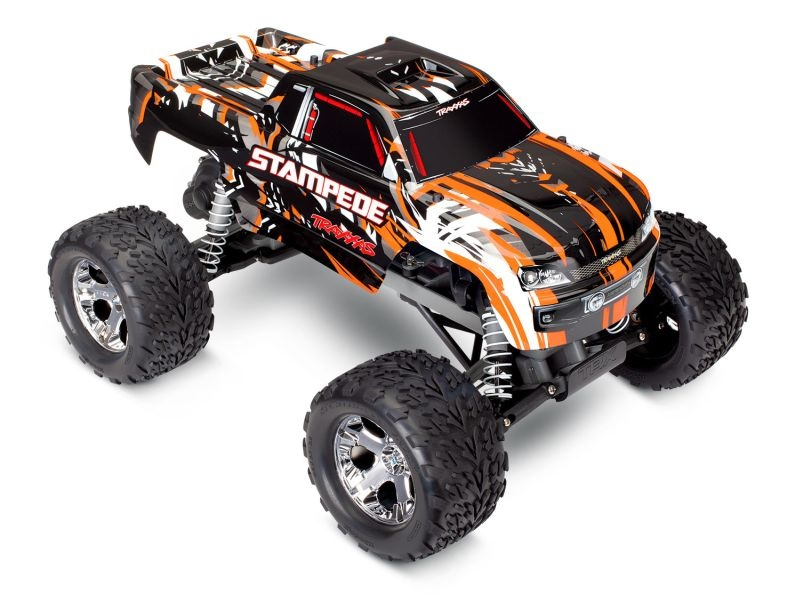 TRAXXAS Stampede orange RTR +12V-Lader+Akku