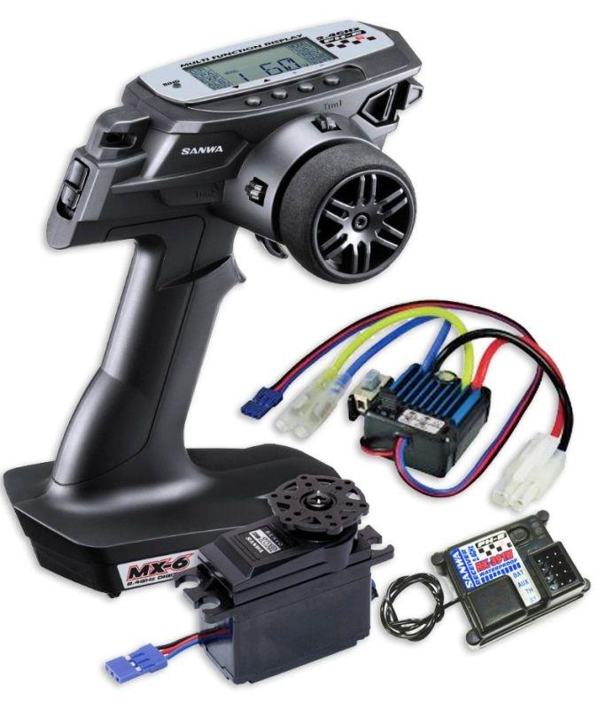 MX-6 Combo TX/RX-391W + BL-SIGMA-Regler & SRM-102Z Servo