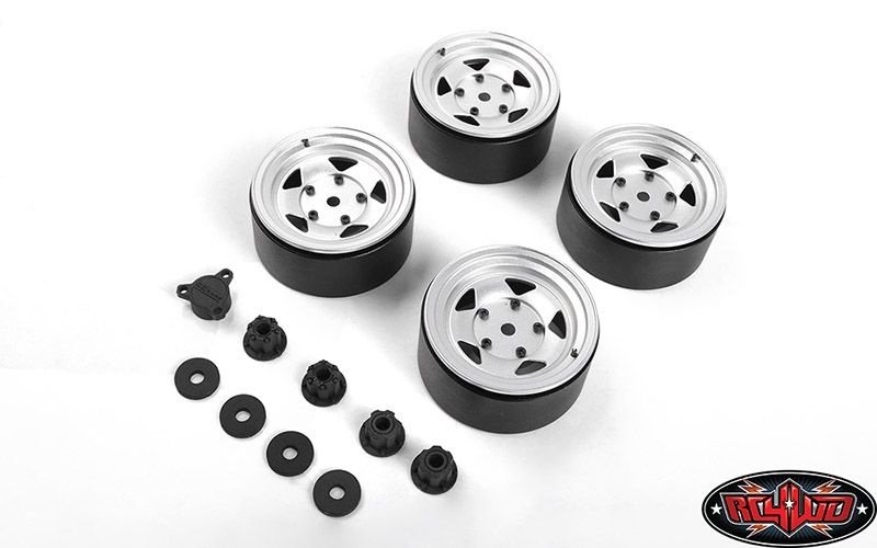 Seren 2.2 Beadlock Wheels w/ Center Caps (Silver)