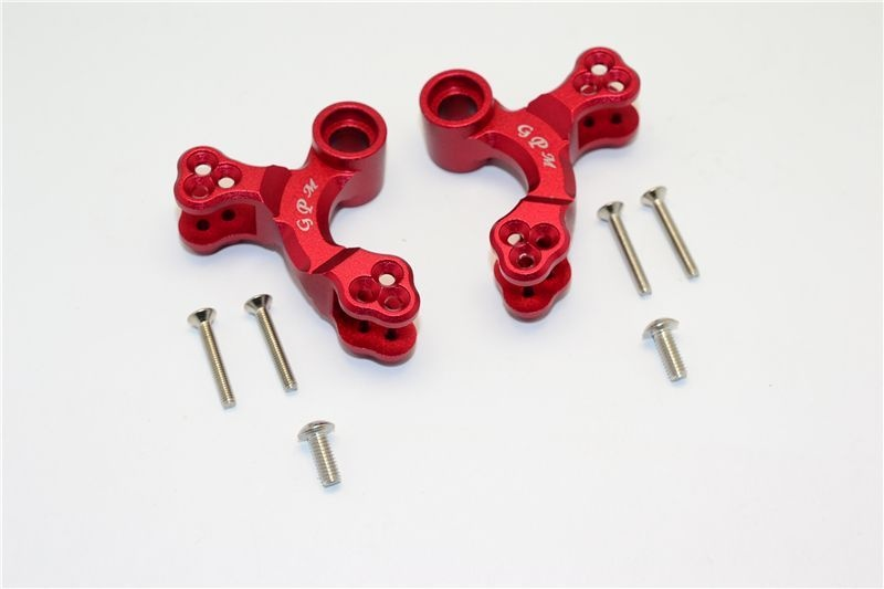 ALUMINUM FRONT OR REAR ADJUSTABLE DAMPER MOUNT-1PC red