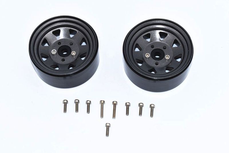 ALUMINUM WHEEL 1.9 FOR CRAWLERS -15PC SET grey/black