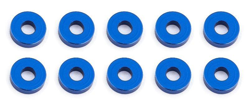 Bulkhead Scheiben 7.8x2,0mm, Alu blau (10)