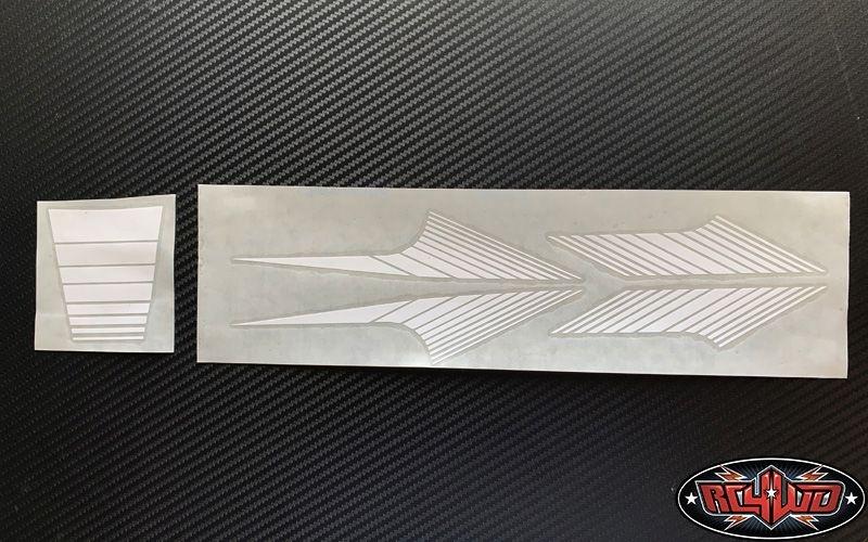 RC4WD Classic Stripes for 1985 4Runner Sheet (White)