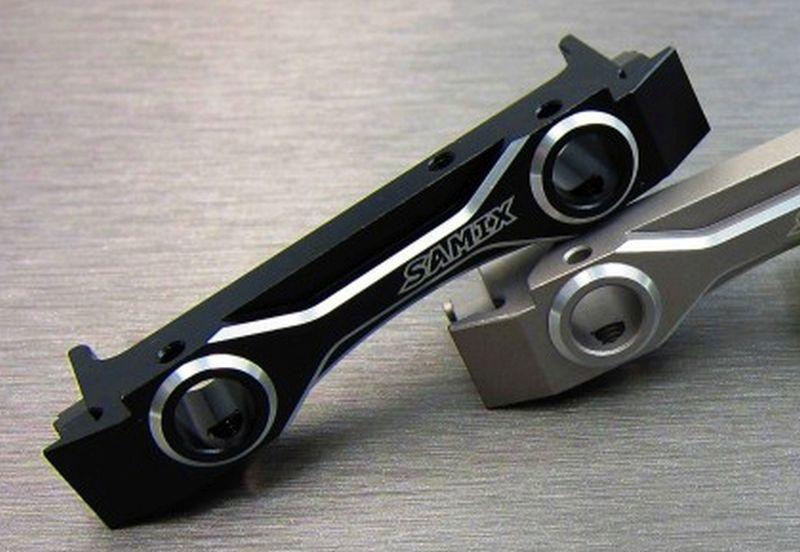SAMIX SCX10-2 alum black short fornt bumper mount set