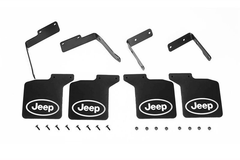 SCALE ACCESSORIES: MUD FLAP FOR SCX10 III JEEP -28PC SET