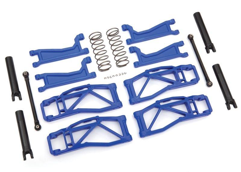Querlenker-Set WideMaxx blau Querlenker, Spurstangen +Feder