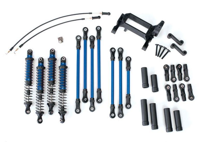 TRX-4 Long Arm Lift Kit komplett blau