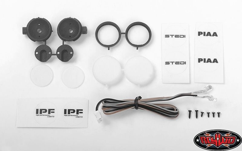 Round IPF Flood Lights w/ Light Kit (White)