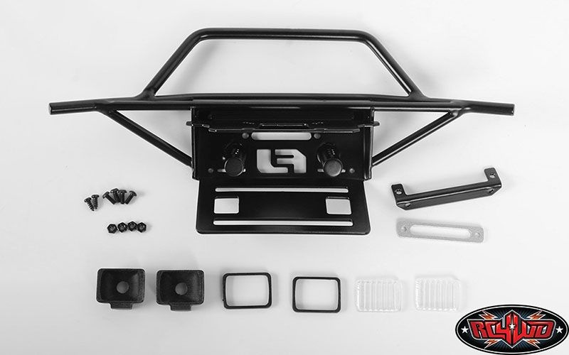 Metal Front Winch Bumper for HPI Venture FJ Cruiser W/Lights