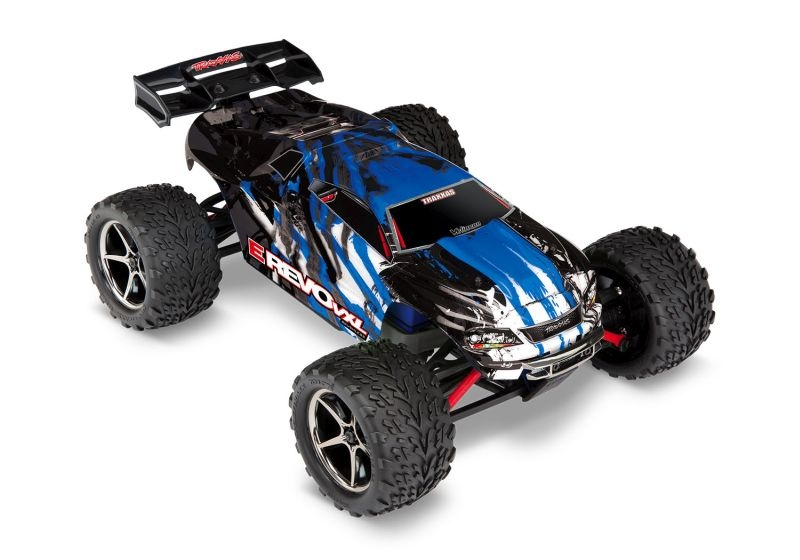 TRAXXAS E-Revo 4x4 VXL  blauX RTR +12V-Lader+Akku
