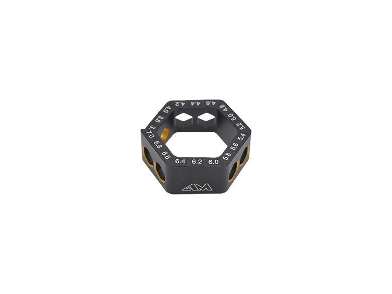 AM Droop Gauge 3.6-7.0MM (0.2MM) Black Golden