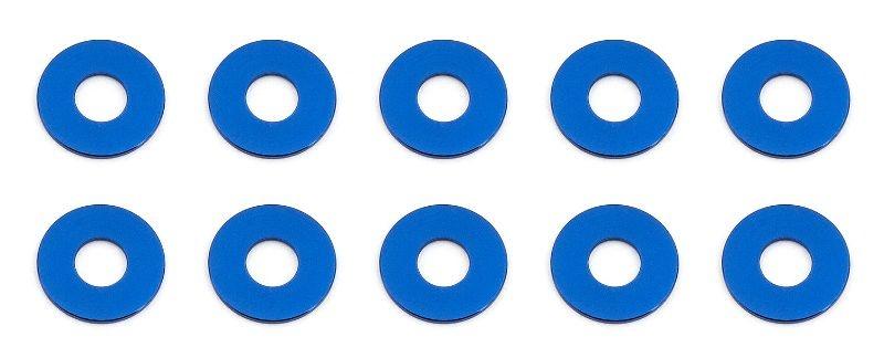 Bulkhead Scheiben 7.8x0,5mm, Alu blau (10)