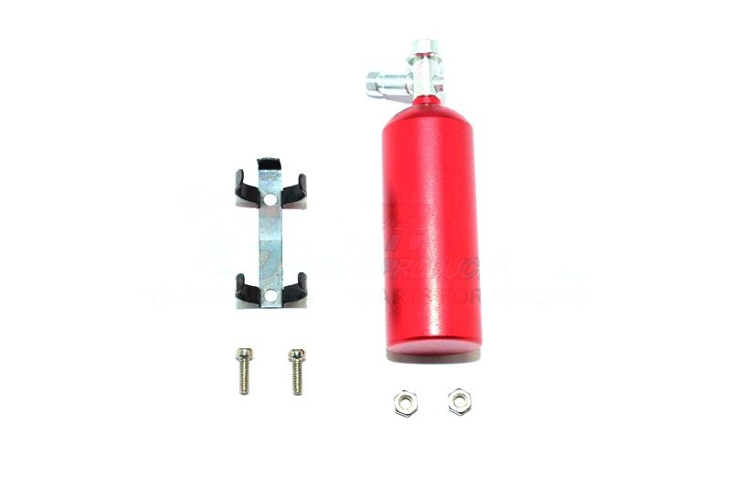 SCALE ACCESSORIES FOR CRAWLERS: NOS GAS TANK -6PC SET red
