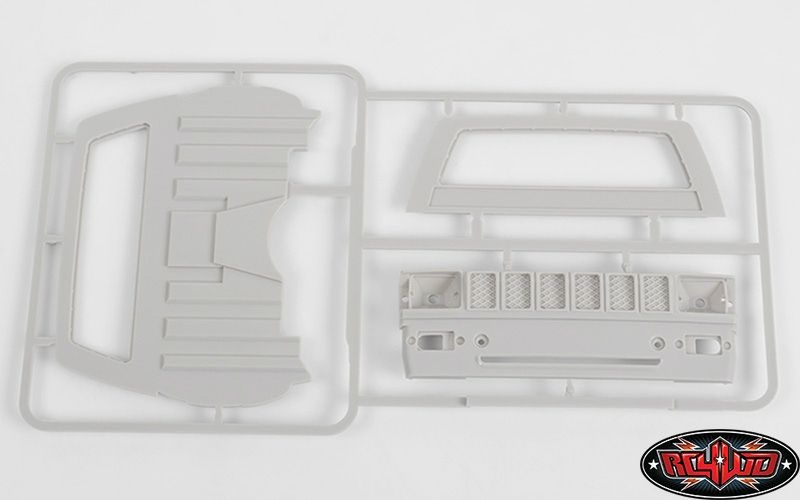 RC4WD Mojave II Cab Back Panels and Grill Parts Tree (Gray)